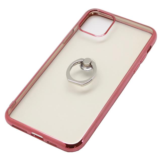 iPhone 11 Pro Max用 6.5インチ ジャケット リング付き メタルフレーム